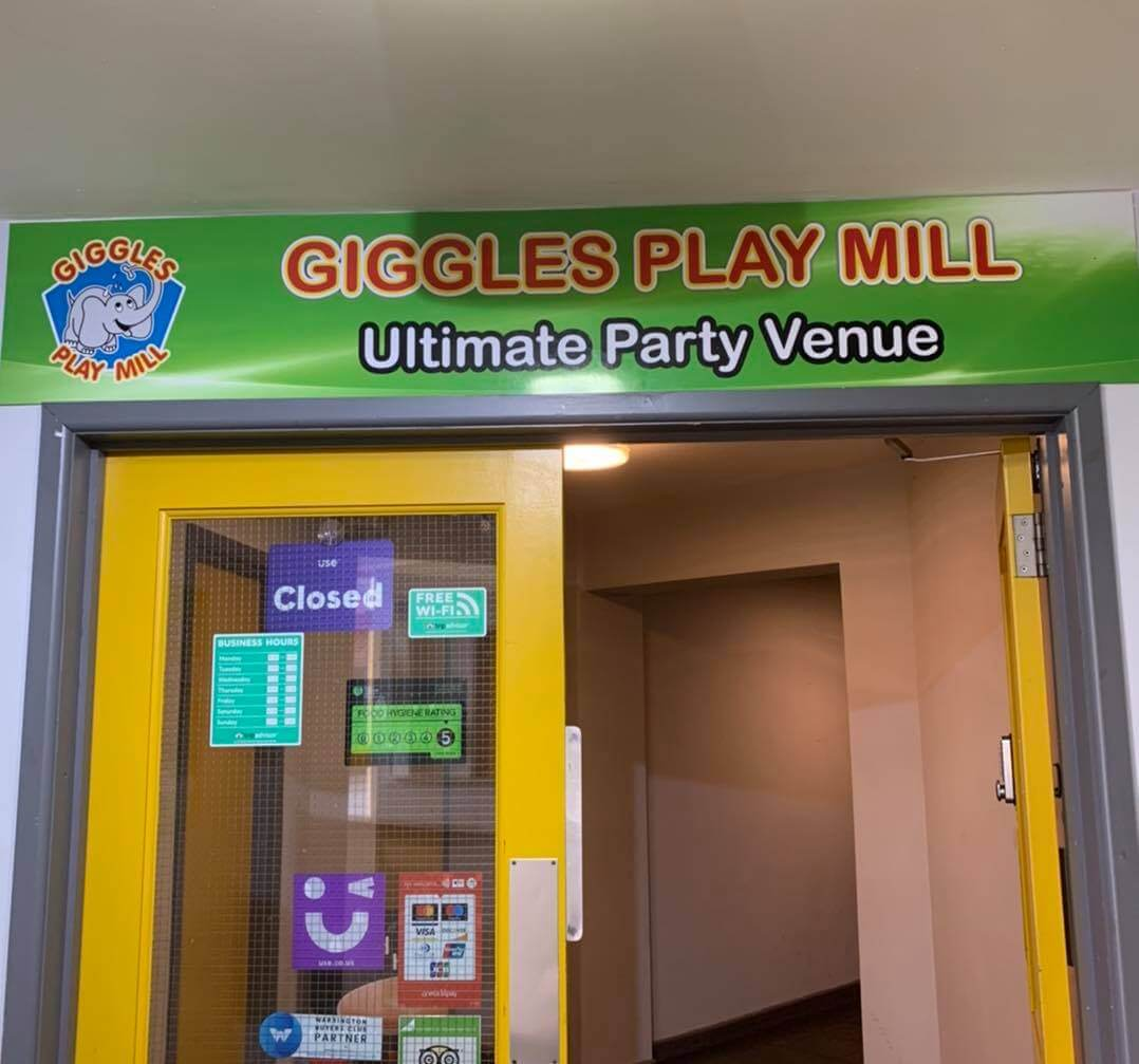 Giggles Play Mill entrance